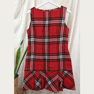 VINTAGE 1970s Plaid Mini Dress Size 10